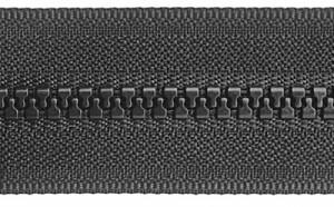 Black Moulded Zip